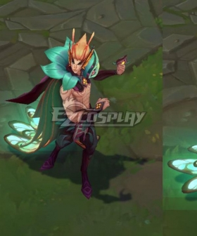 League Of Legends LOL Elderwood Rakan Cosplay Costume