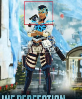 Apex legends Loba Holo-Day Blue Cosplay Wig
