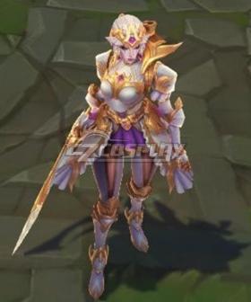 League of Legends LOL Battle Queen Diana Prestige Cosplay Costume