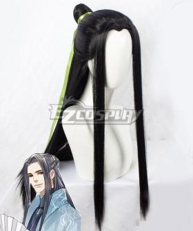 Scumbag System The Scum Villain's Self-Saving System Chuan Shu Zijiu Zhinan SVSSS Shen Qingqiu Black Cosplay Wig - B Edition