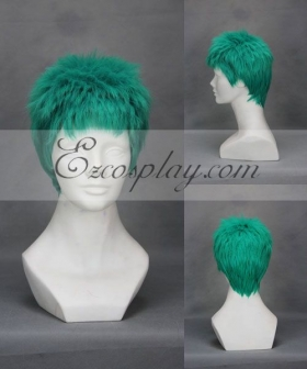 One Piece Roronoa Zoro Green Cosplay Wig 243A
