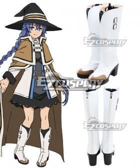Mushoku Tensei: Jobless Reincarnation Roxy Migurdia Silver Shoes Cosplay Boots