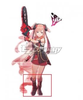 Scarlet Nexus Arashi Spring Black Shoes Cosplay Boots
