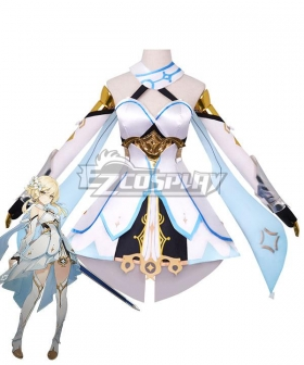 Genshin Impact Player Female Traveler Cosplay Costume B Edition