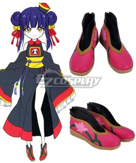 Dropkick On My Devil! Jiang Jiang Zombie Pink Cosplay Shoes