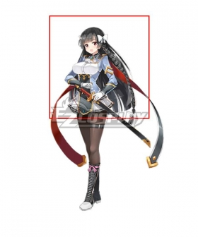 Epic Seven 7 Karin Black Cosplay Wig