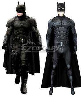 DC The Batman 2021  Bruce Wayne Robert Pattinson Zentai Jumpsuit Cosplay Costume