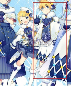 Vocaloid Kagamine Len Snow 2021 Silver Shoes Cosplay Boots