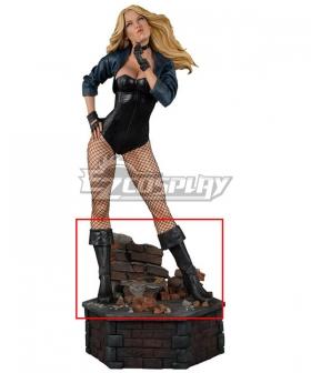 DC Comics Black Canary Dinah Drake Black Shoes Cosplay Boots