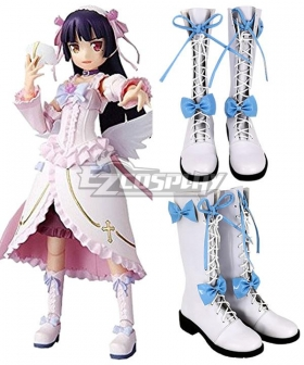Oreimo My Little Sister Can't Be This Cute Ruri Goko Angel White Shoes Cosplay Boots