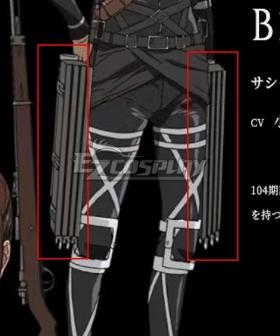 Attack On Titan Final Season Mikasa Ackerman Maneuver Gear Cosplay Weapon Prop