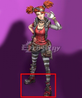 Borderlands 3 Gaige Red Cosplay Shoes
