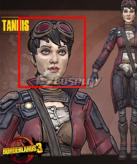 Borderlands 3 Patricia Tannis Black Cosplay Wig