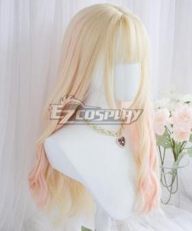 Japan Harajuku Lolita Series Golden Pink New Cosplay Wig