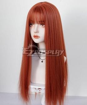 Japan Harajuku Lolita Series Orange Straight Cosplay Wig