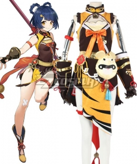 Genshin Impact Xiangling Cosplay Costume - B Edition