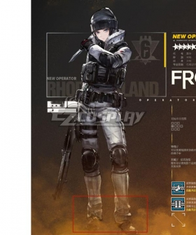 Arknights Rainbowsix siege Frost Black Cosplay Shoes