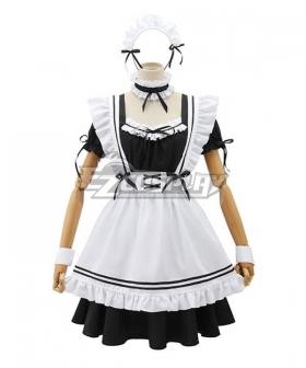 Black & White Maid Dress Cosplay Costume - EMDS001Y