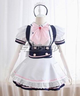 Blue Maid Dress Cosplay Costume - EMDS003Y