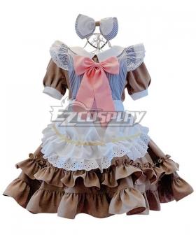 Lolita Maid Dress Cosplay Costume - EMDS006Y