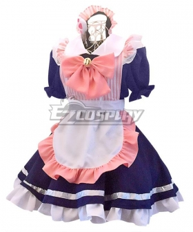 Pink & Blue Maid Dress Cosplay Costume - EMDS015Y