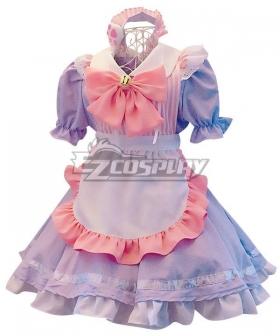 Pink & Purple Maid Dress Cosplay Costume - EMDS016Y