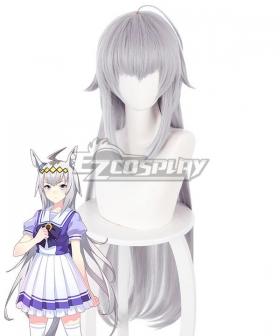 Uma Musume: Pretty Derby Oguri Cap Silver Cosplay Wig