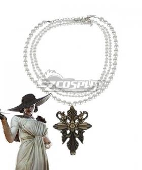 Resident Evil 8 Village Alcina Dimitrescu Vampire Lady Dimitrescu Necklace Cosplay Accessory Prop