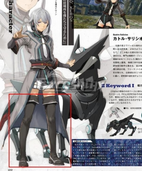 The legend of heroes: kuro no kiseki Quatre Salision Black Shoes Cosplay Boots