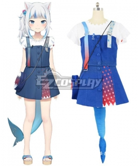 Holdlive Virtual YouTuber Gawr Gura New Outfit Cosplay Costume