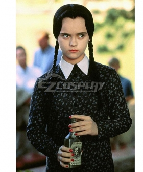 The Addams Family Wednesday Addams Halloween Cosplay Costume