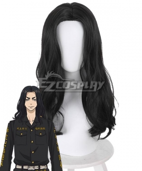 Tokyo Revengers Keisuke Baji Black Cosplay Wig