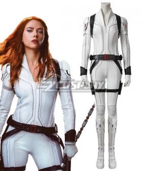 Marvel Black Widow 2021 Natasha Romanoff Cosplay Costume White Edition