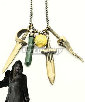 Resident Evil 8 Village Vampire Daughters Bela Daniela Cassandra Necklace Cosplay Accessory Prop Zinc Edition