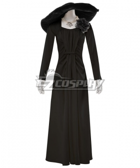 Resident Evil 8 Village Alcina Dimitrescu Vampire Lady Dimitrescu Dress Black Version Cosplay Costume
