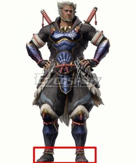Monster Hunter Rise The Elder Fugen Yellow Cosplay Shoes