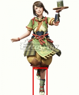 Monster Hunter Rise The Chef Yomogi Green Cosplay Shoes
