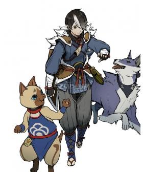 Monster Hunter Rise Buddy Handler Iori Cosplay Costume
