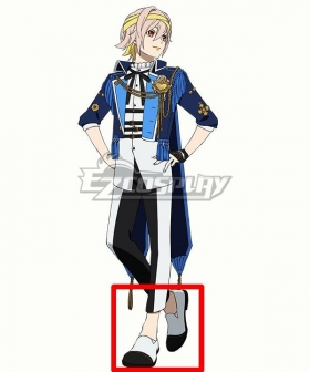 Visual Prison O.Z Robin Laffite White Cosplay Shoes