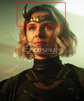 Marvel 2021 Loki Sylvie Lushton Lady Loki Horn Mask Cosplay Accessory Prop