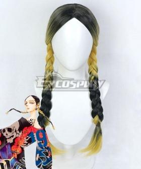 Tokyo Revengers Ran Haitani Black Golden Cosplay Wig