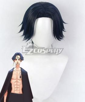 Tokyo Revengers Kakucho Hitto Black Blue Cosplay Wig