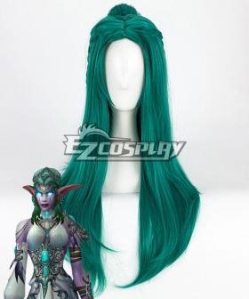 World of Warcraft Tyrande Lolita Green Cosplay Wig