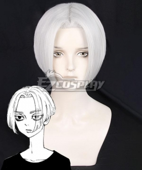 Tokyo Revengers Manjiro Sano Mikey Silver White Cosplay Wig