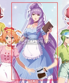 Macross Δ Movie: Absolute Live!!!!!! Mikumo Guynemer Cafe Maid Cosplay Costume