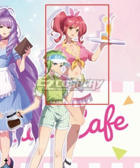 Macross Δ Movie: Absolute Live!!!!!! Makina Nakajima Cafe Maid Cosplay Costume