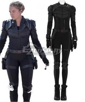 Marvel Black Widow 2021 Yelena Belova Black Suit Halloween Cosplay Costume
