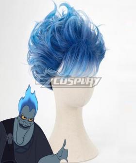Disney Hercules Hades Blue Cosplay Wig
