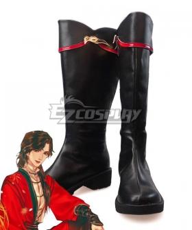 Tian Guan Ci Fu Heaven Official's Blessing Comic Hua Cheng Black Shoes Cosplay Boots