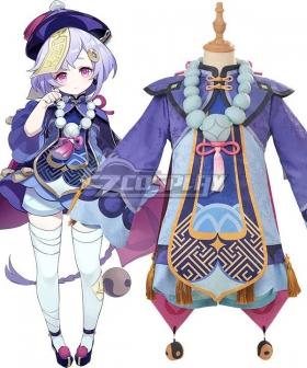 Kids Size Genshin Impact Qiqi Cosplay Costume